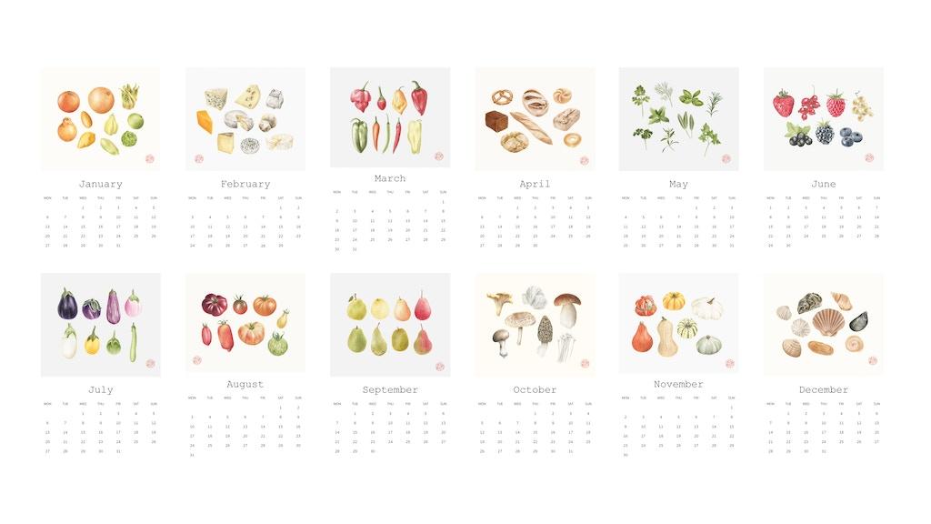 Calendrier Portugal Euro 2020.Calendrier Gourmand 2020 Food Calendar 2020 By Eliane