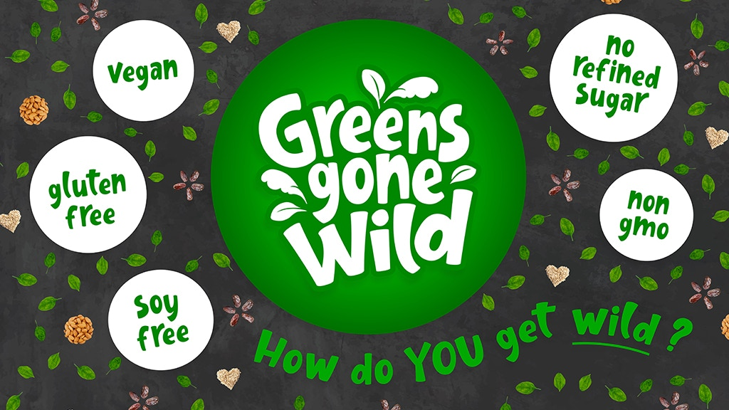 Project image for Greens Gone Wild - A Spinach Packed Protein Bar Company!