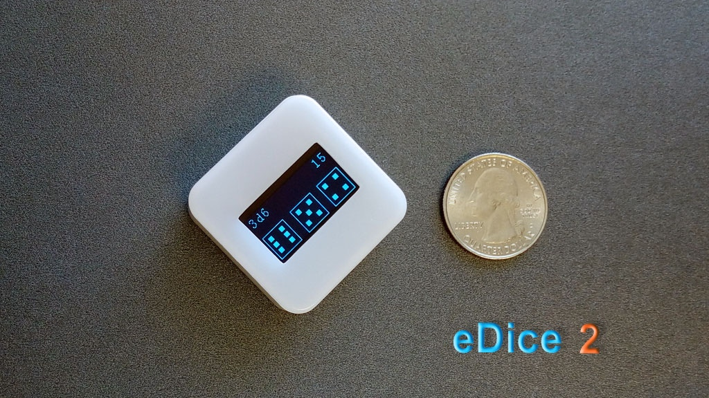 eDice 2: An universal electronic dice for tabletop games project video thumbnail