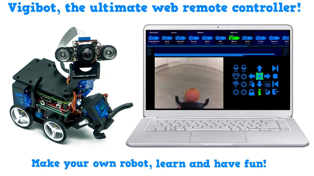 Make your own ultimate Raspberry Pi robot with Vigibot! project video thumbnail