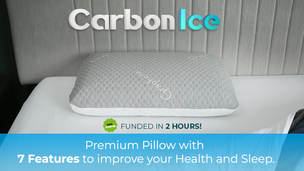 CarbonIce - 7 in 1 Bacteria Protection and Cooling Pillow
