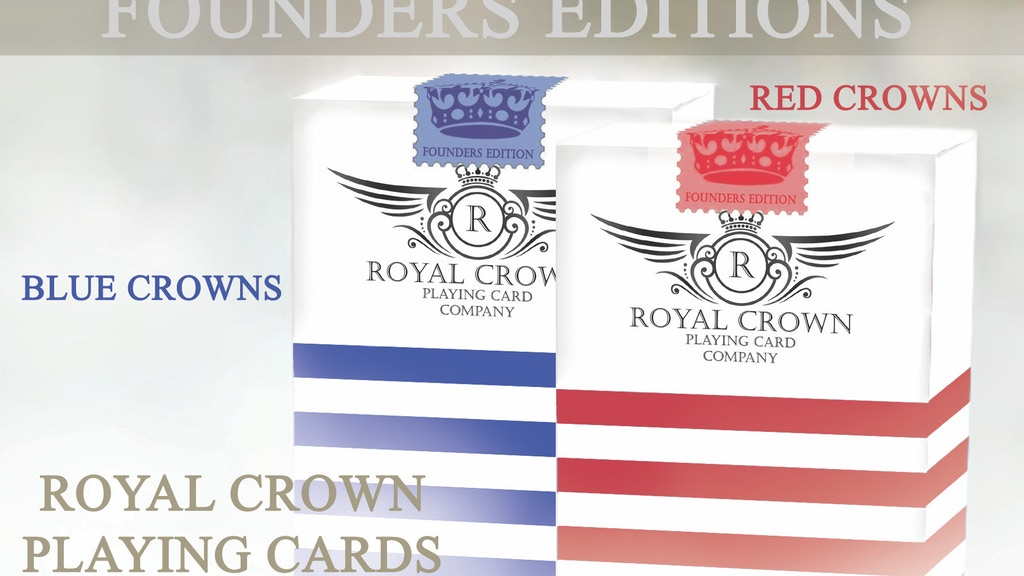 Designer playing cards plus FREE Online Deck Builder Toolkit to celebrate the official opening of the Royal Crown Playing Card Company!