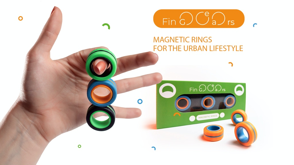 FinGears Magnetic Rings: anti-stress fidget for games project video thumbnail