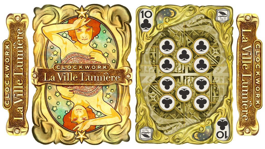 """""""Clockwork: La Ville Lumiere"""" Playing Cards, Animated USPCC project video thumbnail"""
