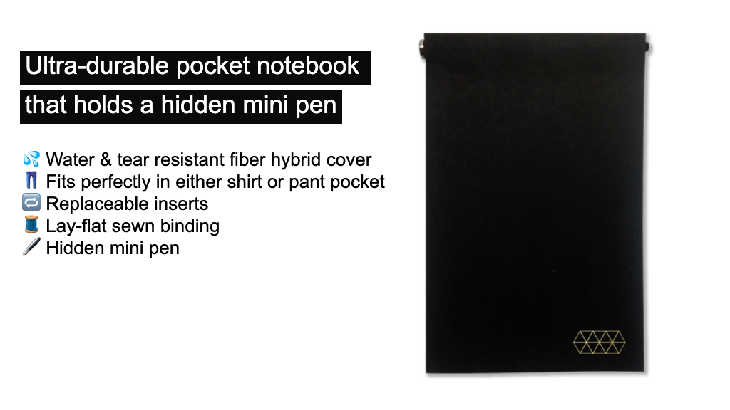 Pocket Notebook w/ Hidden Mini Pen project video thumbnail