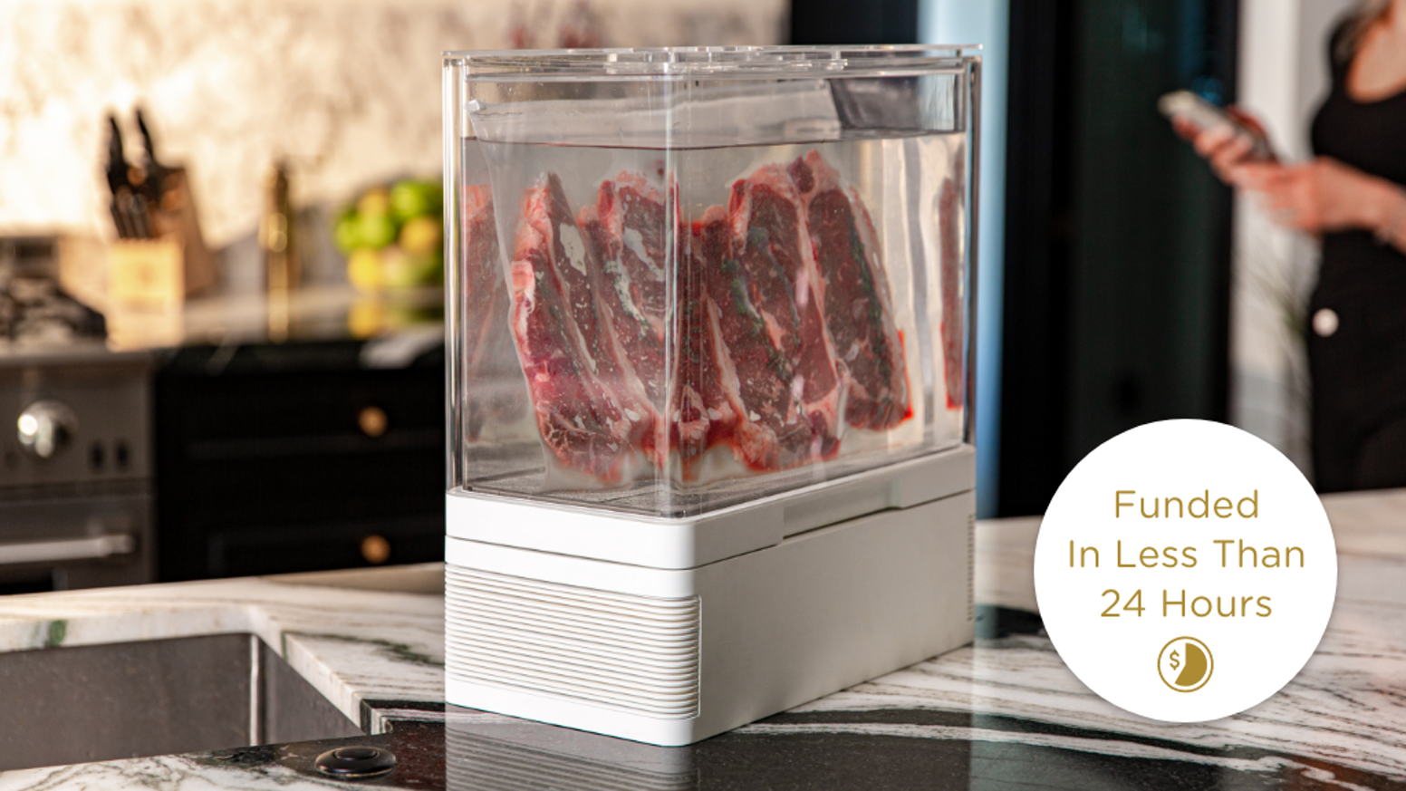This next-gen sous vide machine makes jaw-dropping food using an in-app chef, built-in refrigeration and a dual-vat option