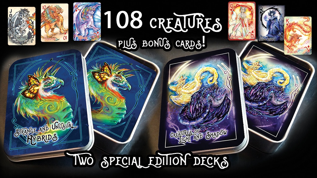 Project image for Dragons & Rare Creatures Playing Cards