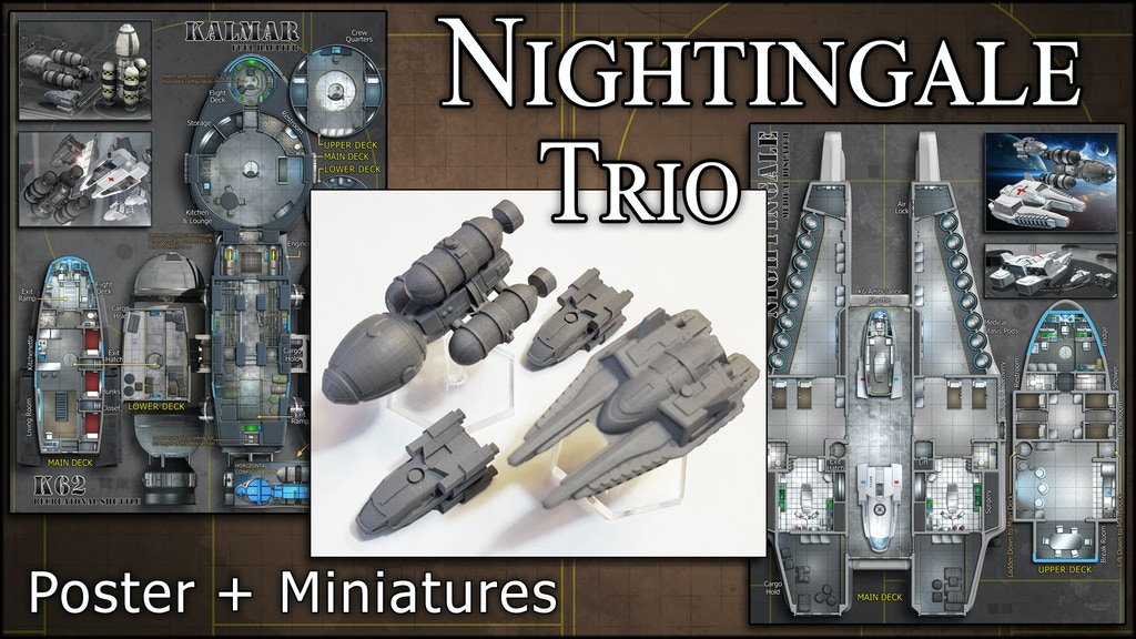 Nightingale Trio: Starship Miniatures & Maps project video thumbnail