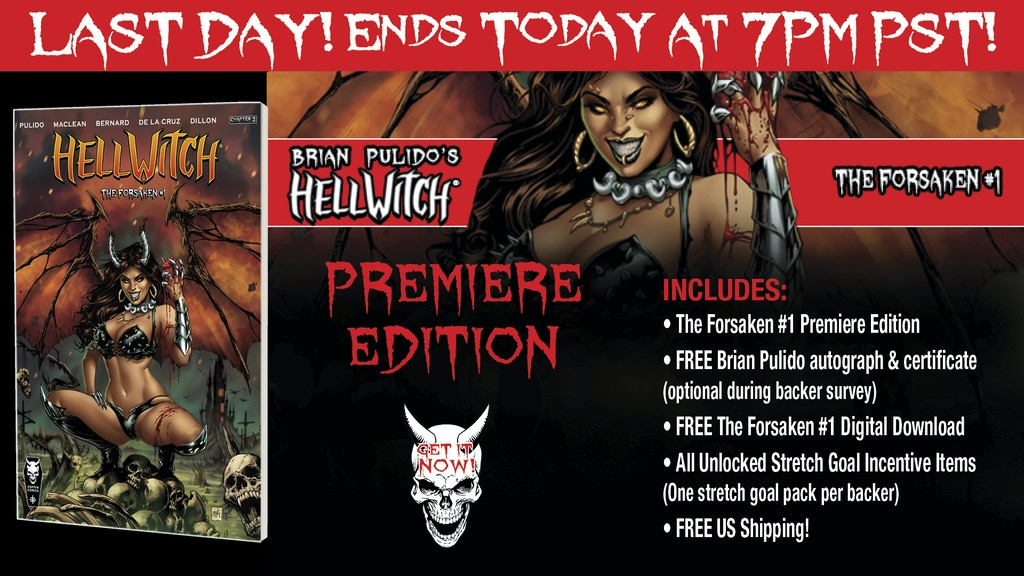 Brian Pulido's Newest: Hellwitch: The Forsaken#1! project video thumbnail