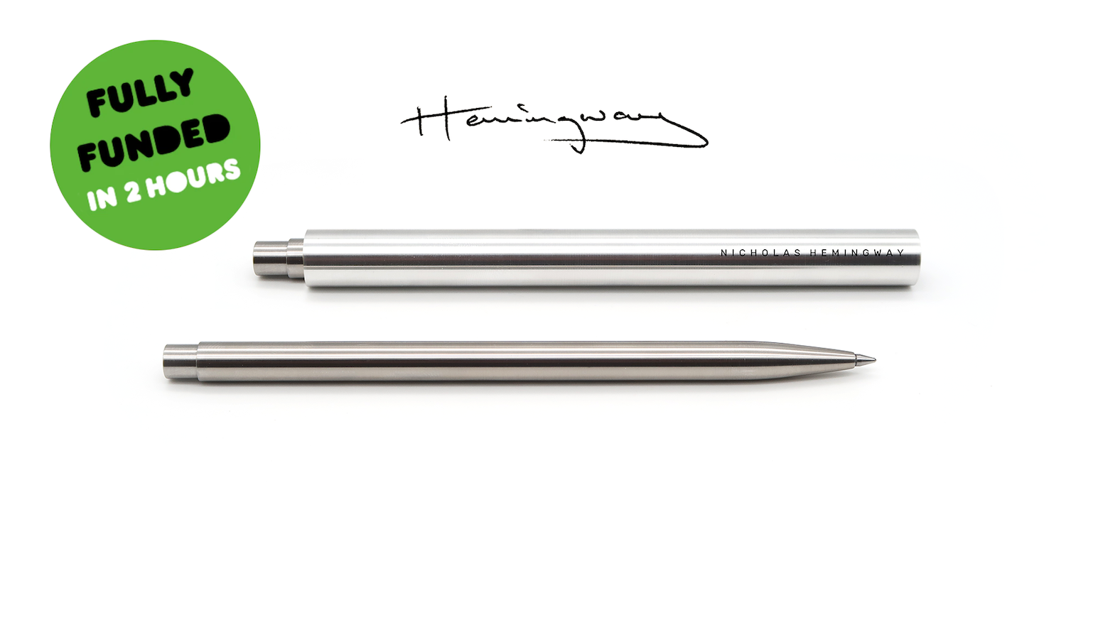A beautifully over-engineered pen. Hand-built to last for life. Designed for engineers, architects and creatives by Nicholas Hemingway