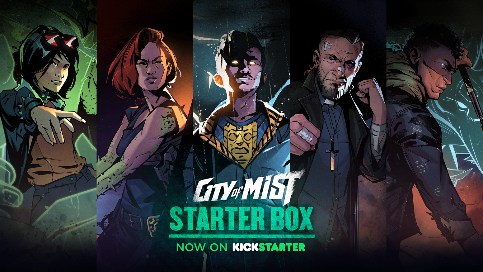 Learn to roleplay in the gritty cinematic universe of City of Mist, where myths and legends become comic book detectives and vigilantes