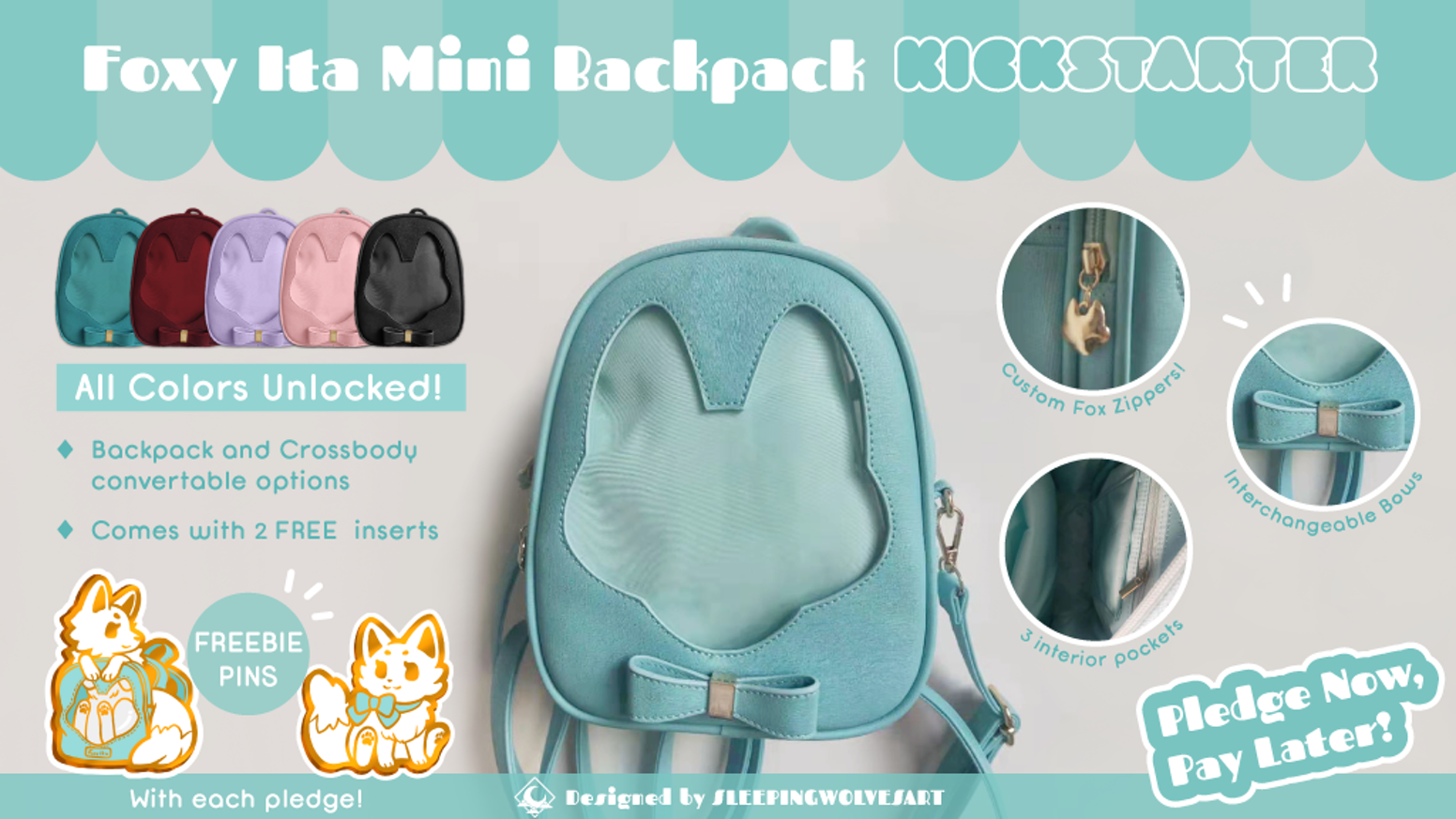 A cute and casual mini ita bag with several custom features for you to showcase your favorite enamel pins, charms, and flair!