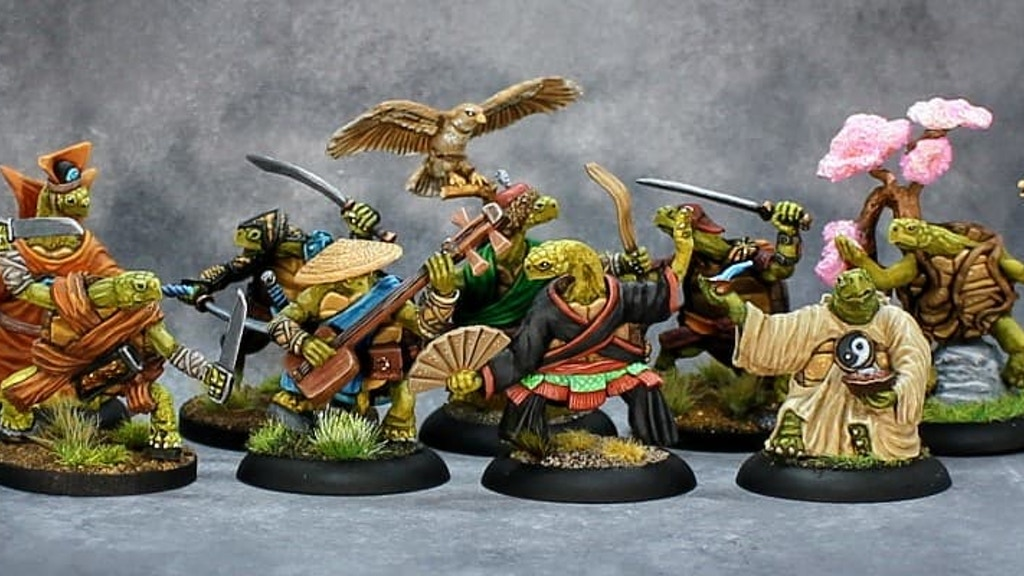 Project image for The Boxer Rebellion, Nine Kung-fu style Turtle Adventurers!