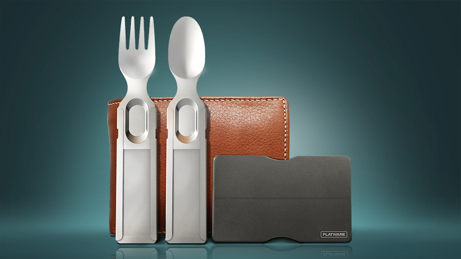 Reusable utensils that fit in your wallet, purse or pocket.