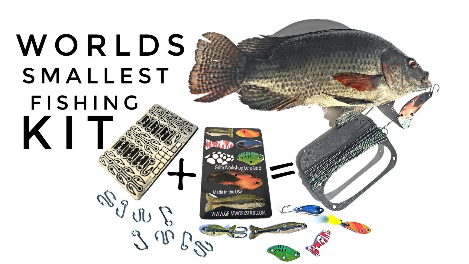 The worlds smallest and most compact fishing kit, for outdoor enthusiasts, hiking, camping, and survival. This fishing kit can even...