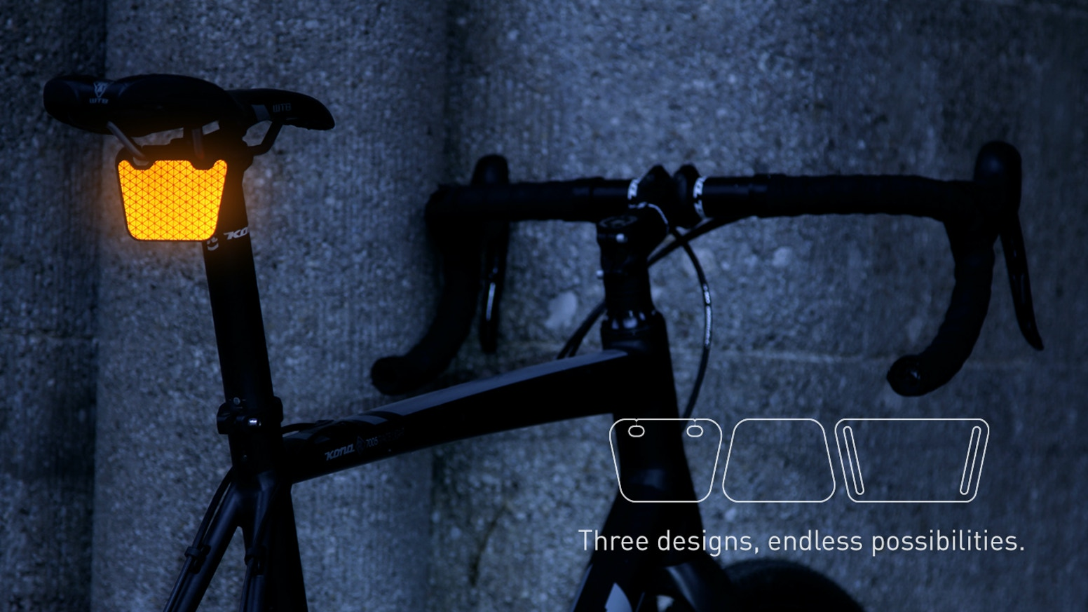 Be seen instantly. Everywhere. Just clip it to your bike, bag or clothing. Three designs, endless possibilities.