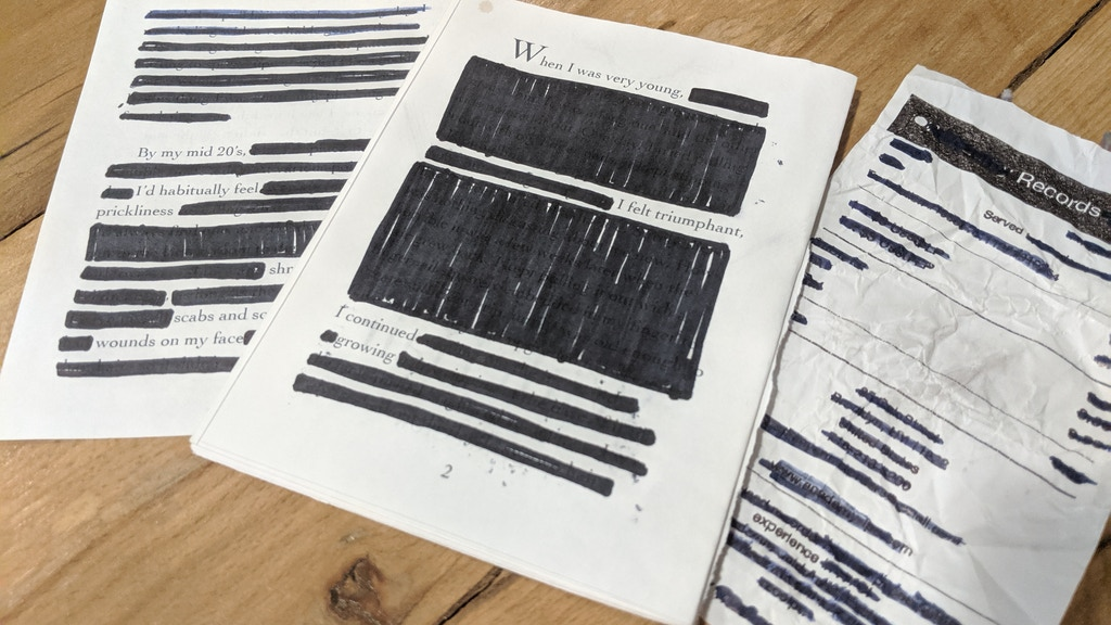 Project image for Make 100 Blackout Poems
