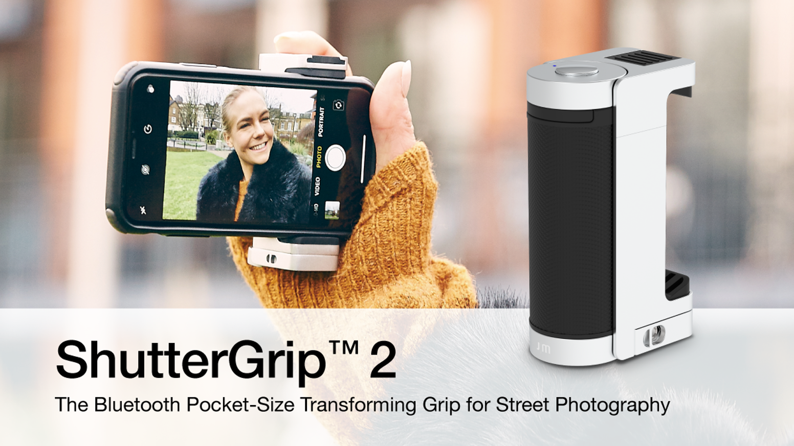 The Bluetooth Pocket-Size Transforming Grip for Street Photography