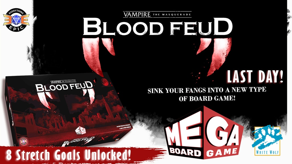 Vampire: the Masquerade - Blood Feud a Mega Board Game project video thumbnail