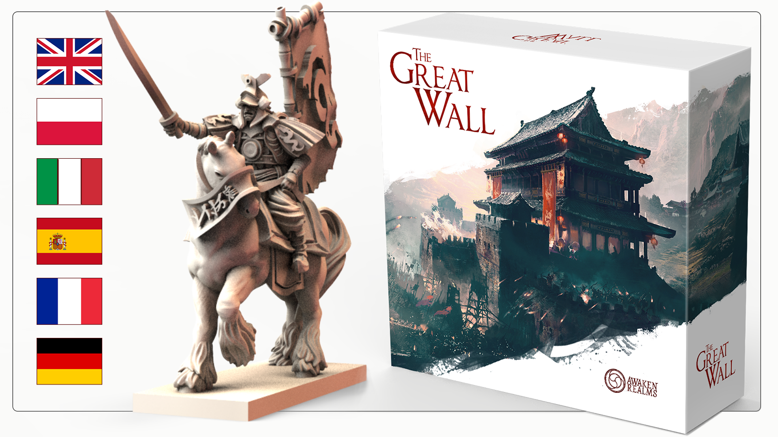 New major Board Game from Awaken Realms set in ancient China. Build and defend the Great Wall in unique worker placement / euro game!