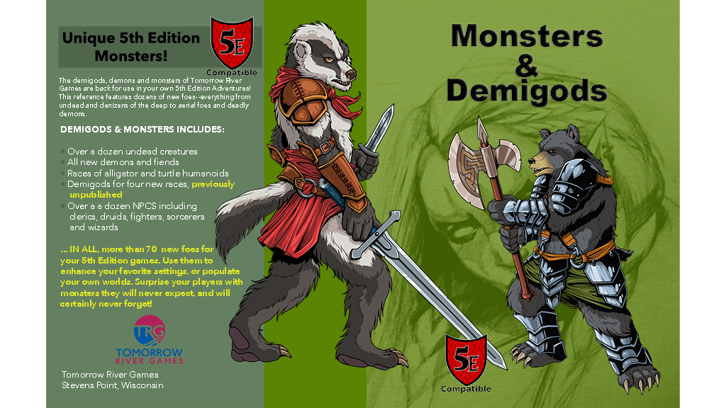 Monsters & Demigods (5E Compatible D&D) RPG - Monster Manual project video thumbnail