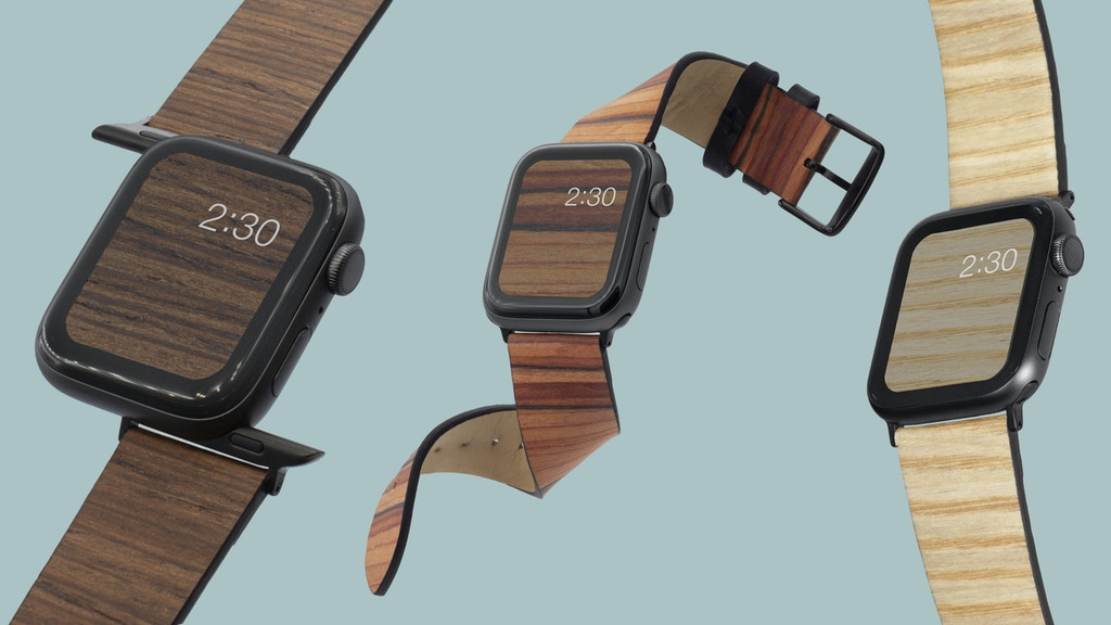 A soft & flexible real wood band for Apple Watch + Fitbit project video thumbnail