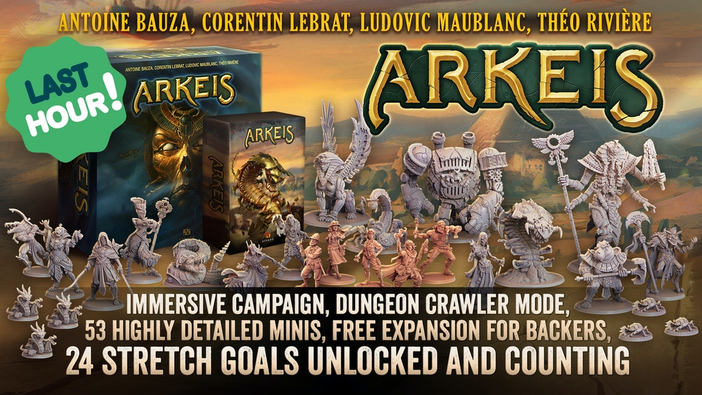 Arkeis - a cooperative story-driven campaign board game project video thumbnail