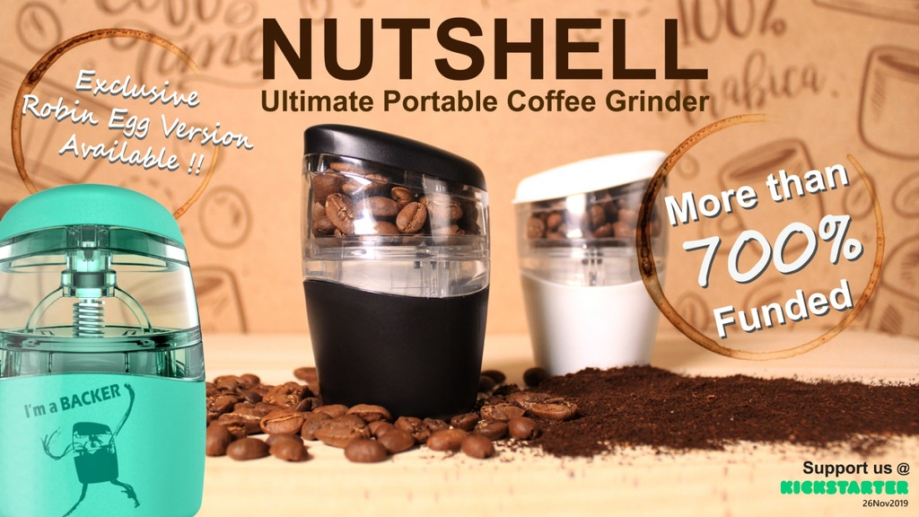 Nutshell: A Pocket-Sized Coffee Grinder project video thumbnail