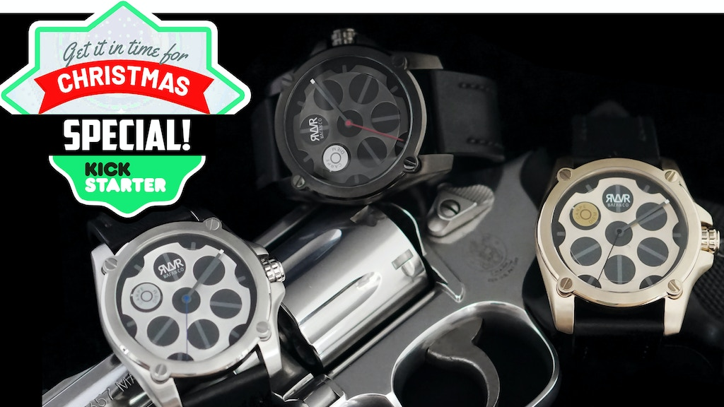 Revolver Inspired Swiss Movement Wrist Watch project video thumbnail