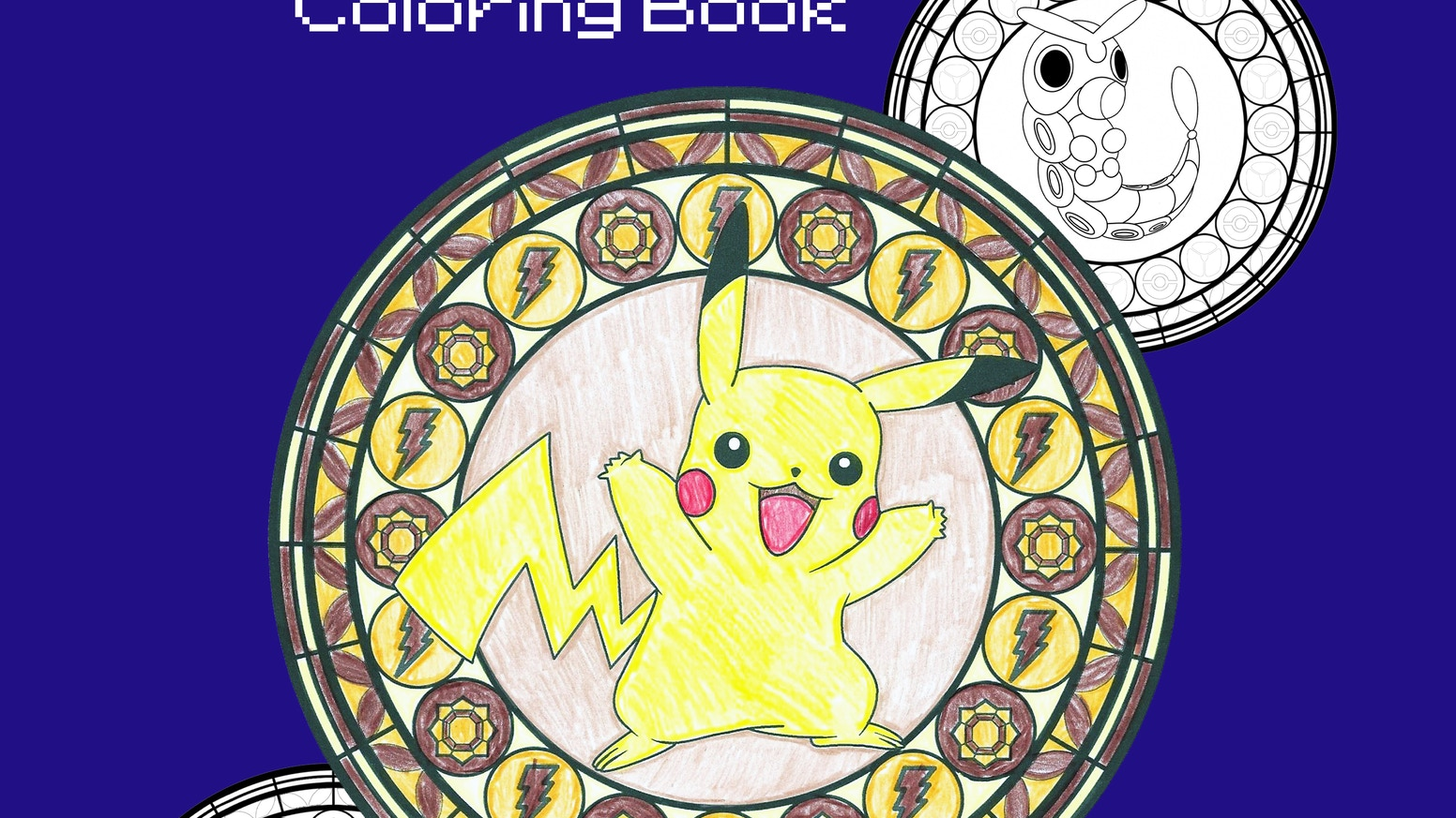 GEN 1 Pokemon Stained Glass Coloring Book by Jessica ...