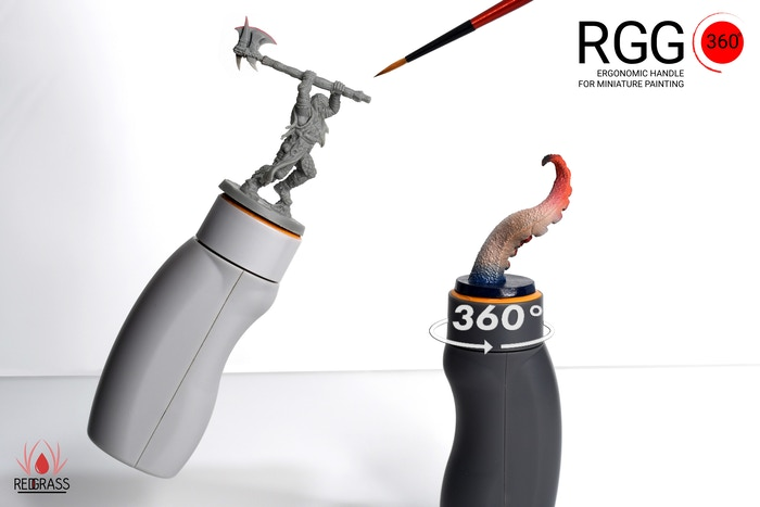 Unique 360° rotation| Ergonomic handle| The perfect holder for your favorite hobby| wargame| board game| miniature|tabletop| painting