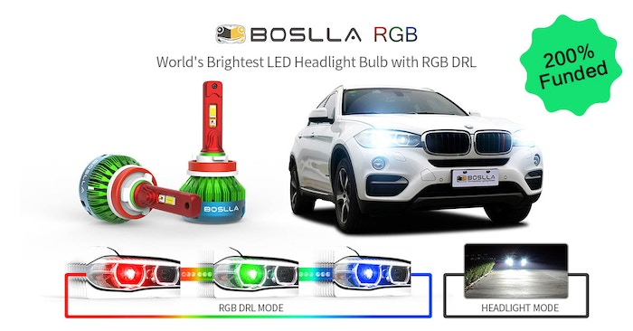 Boslla RGB, super bright RGB LED Headlight Bulb with gradient RGB function, the best gift for yourself, friends, lover, and family.