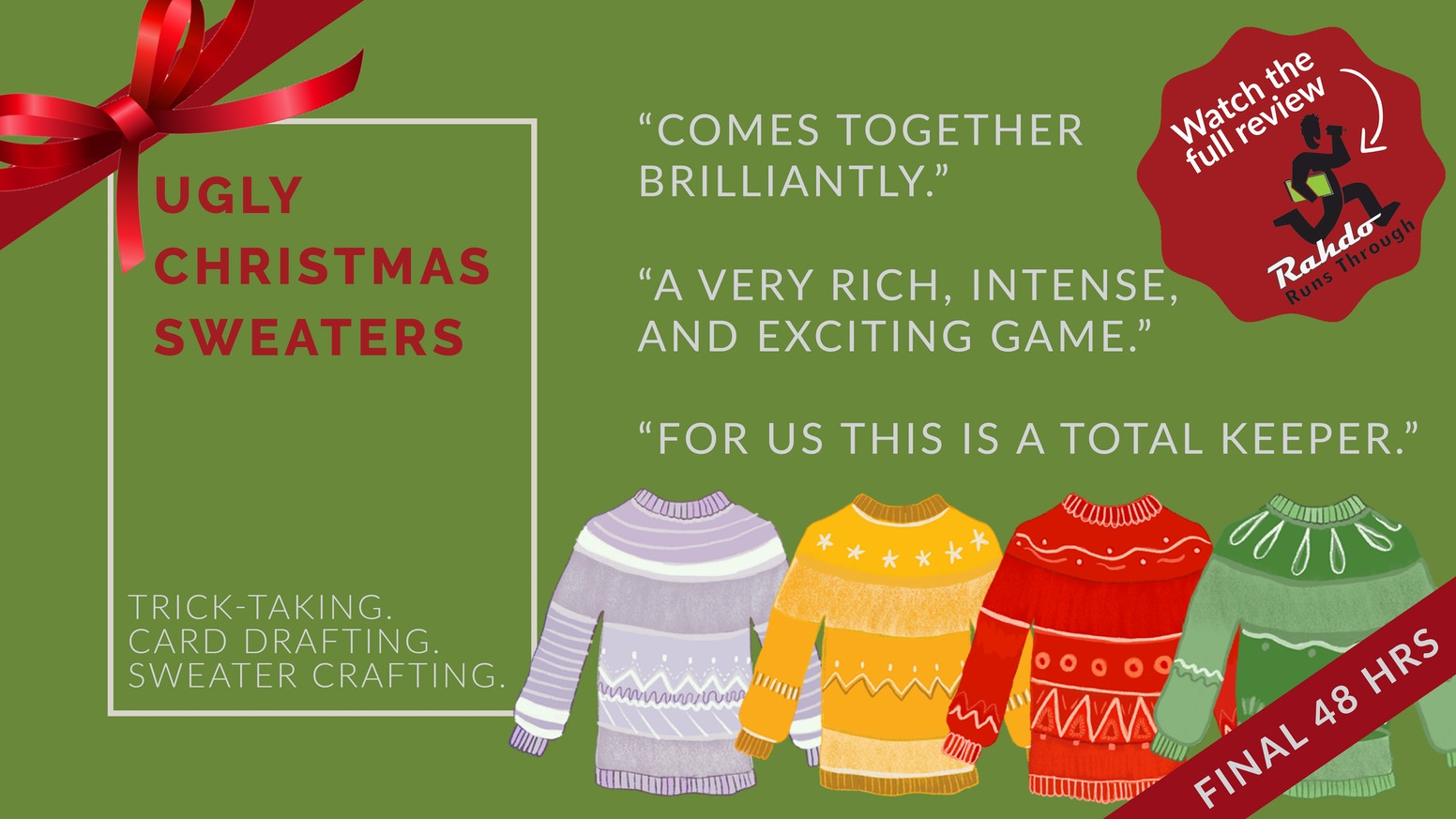 Missed the campaign? Don't sweat it. You can pre-order your copy of 'Ugly Christmas Sweaters' by clicking the link below.