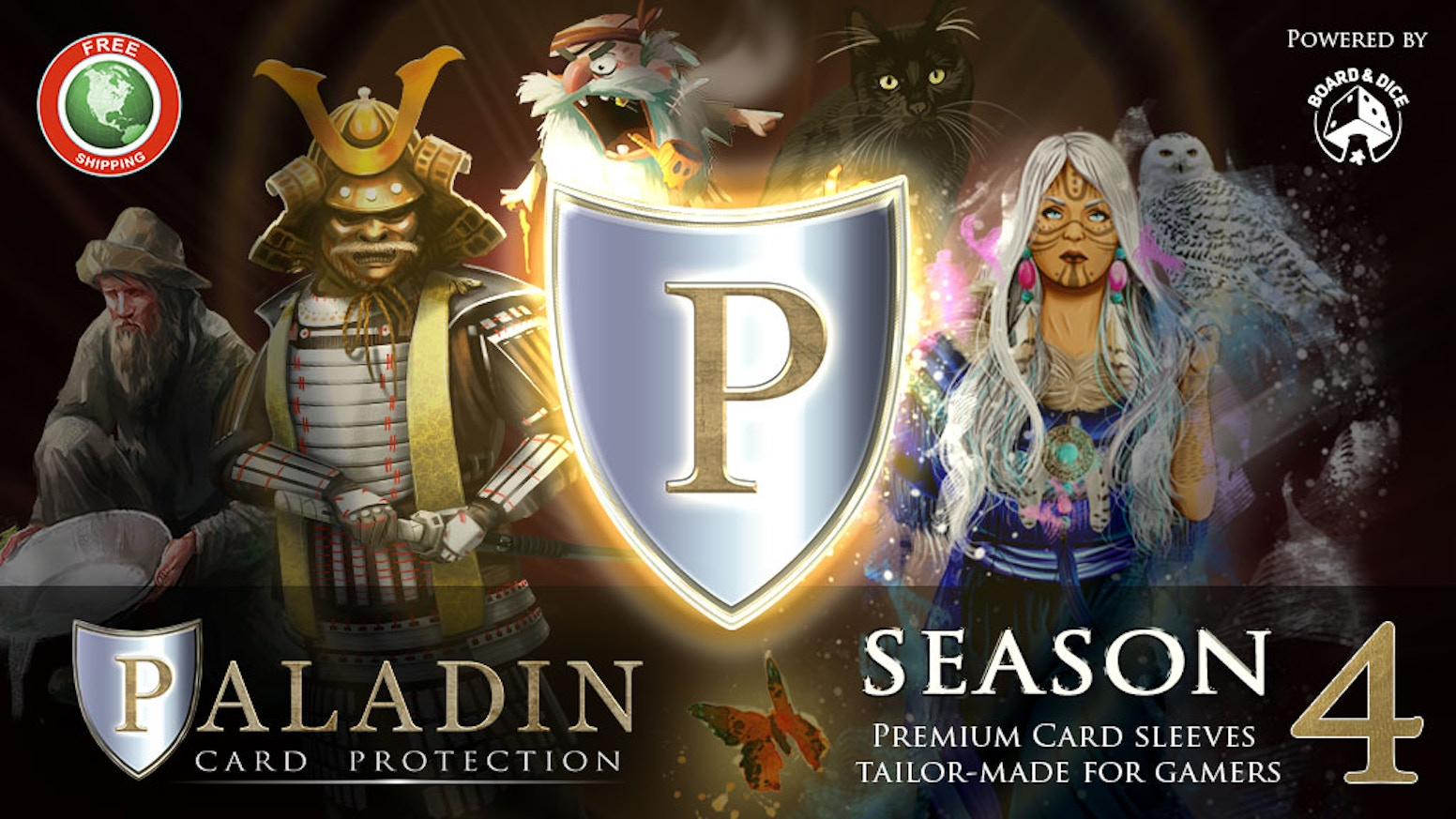 Premium card protectors for gamers. Clear, double matte and solid-back sleeves in a wide range of sizes, all premium quality!