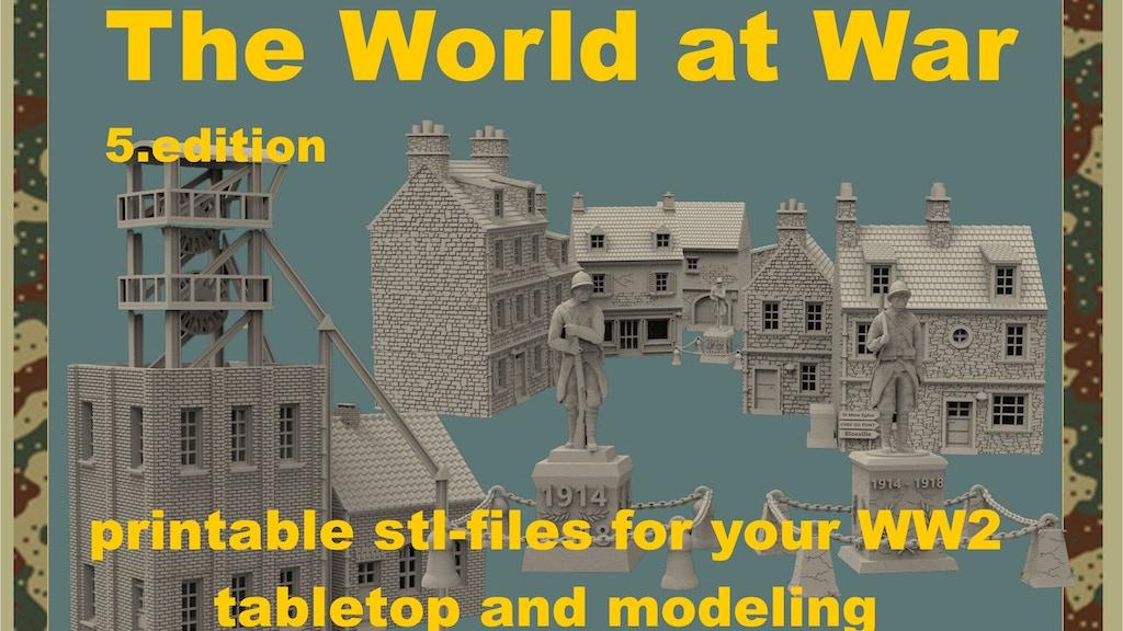 The World at War part 5, 3d printable terrain project video thumbnail
