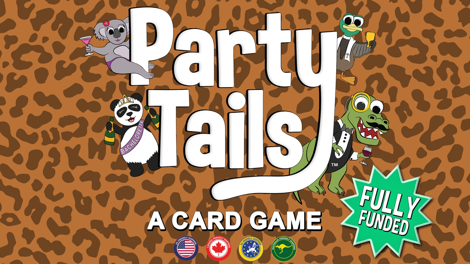 Party your tail off with this wild card game all about animals, drinking, and animals drinking - no drinking required!