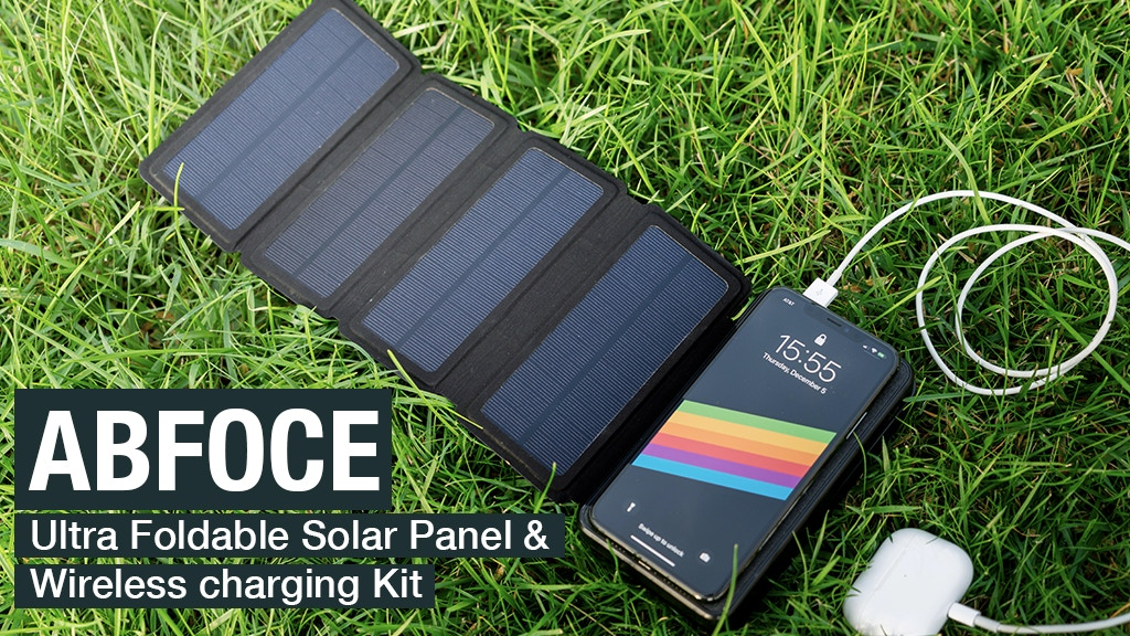 ABFOCE: Ultra Foldable Solar Panel & Wireless Charger Kit project video thumbnail