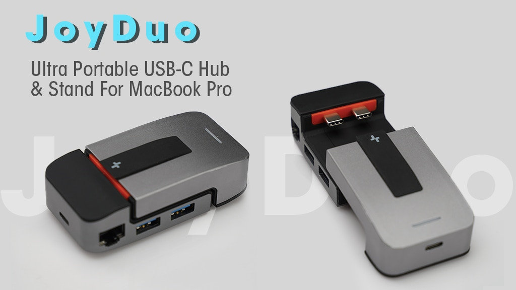 JoyDuo: Ultra Portable USB-C Hub & Stand For MacBook Pro