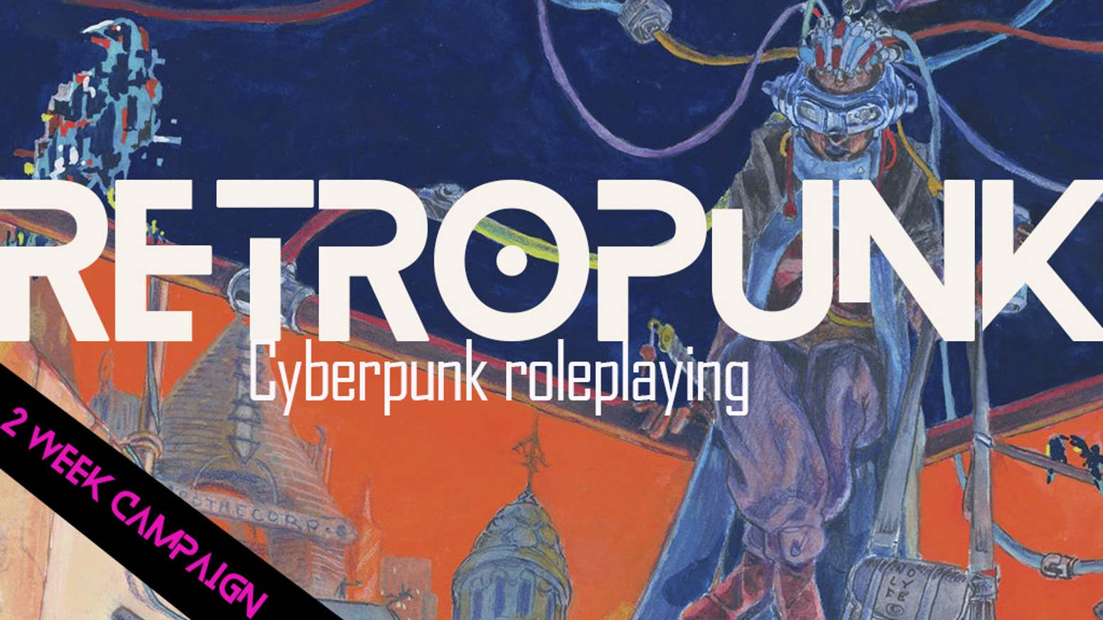 Modern and old-school cyberpunk tabletop game design set in a world where the digital and physical create a new hybrid reality