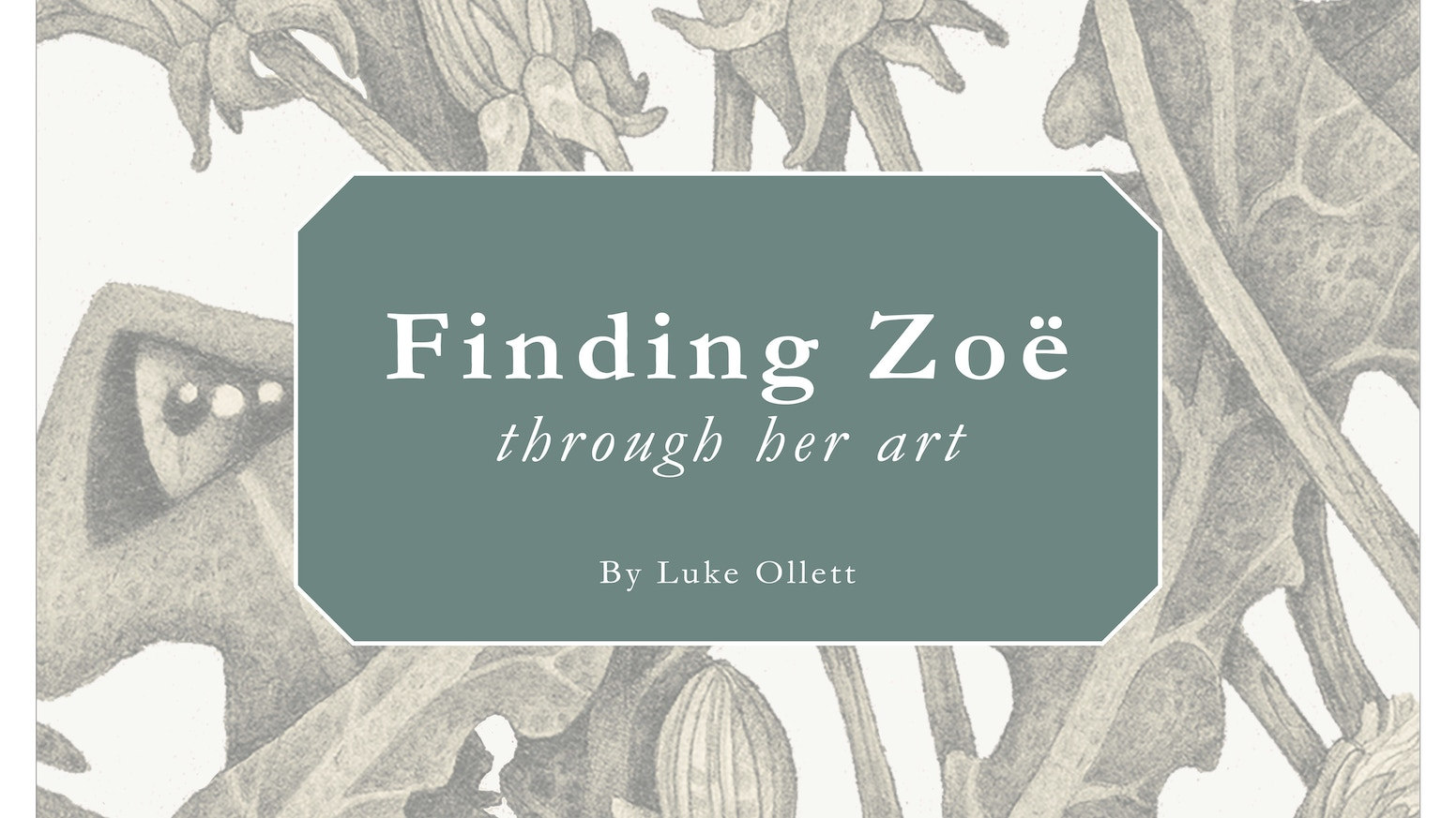 This book is a son's journey to find his dead mother's art through the people that knew her more than he ever did. Thank You to everyone who supported! Follow the continued journey @zoepayneart