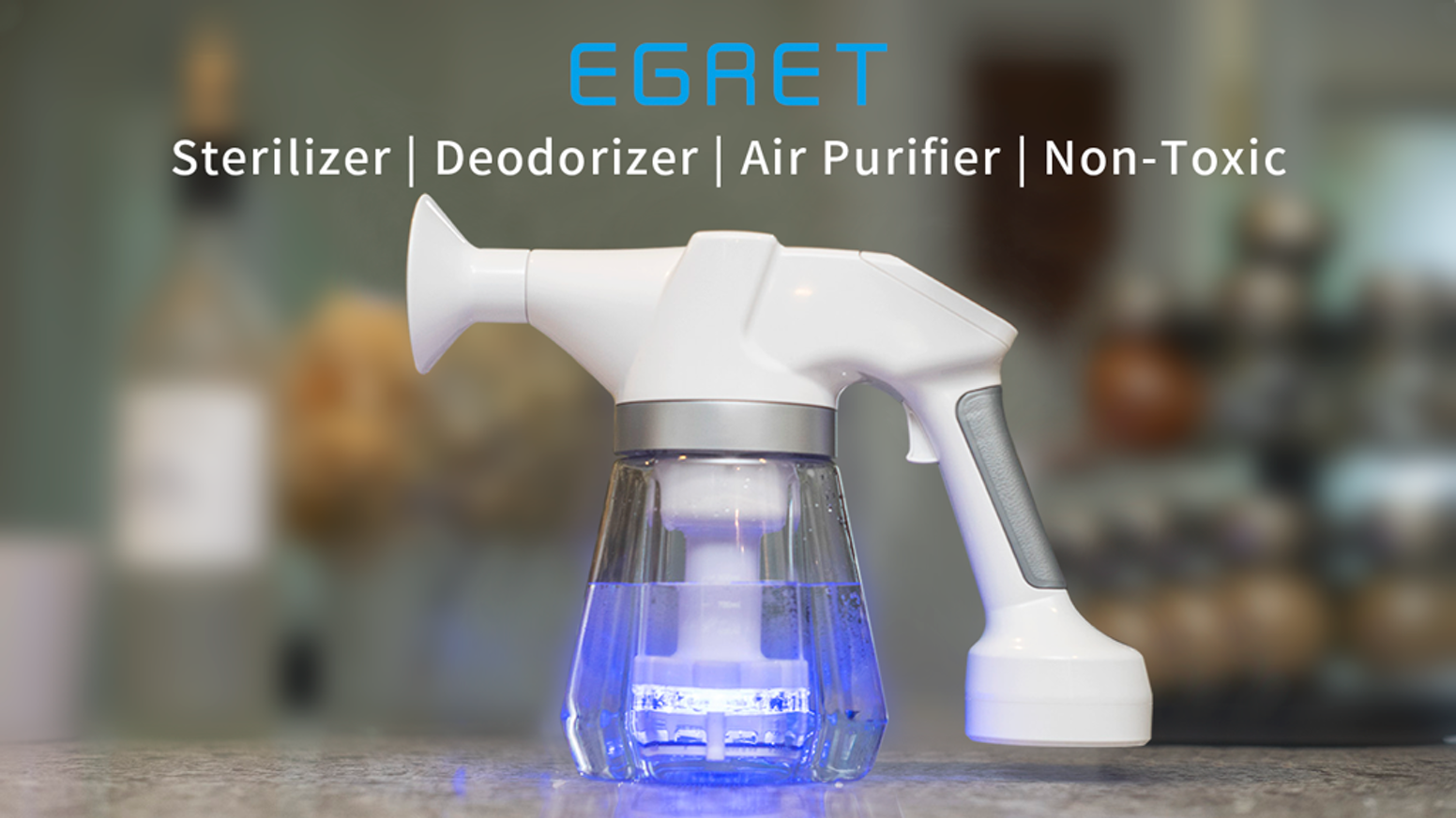 The first cleaning device that kills bacteria, germs, virus and defeat odors in seconds. Patented technology.