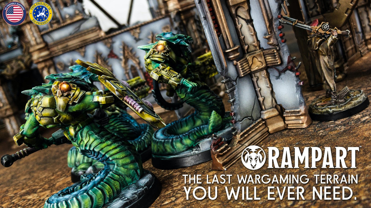 Second Edition of Rampart Terrain featuring all-new theme and upgrades for existing sets.