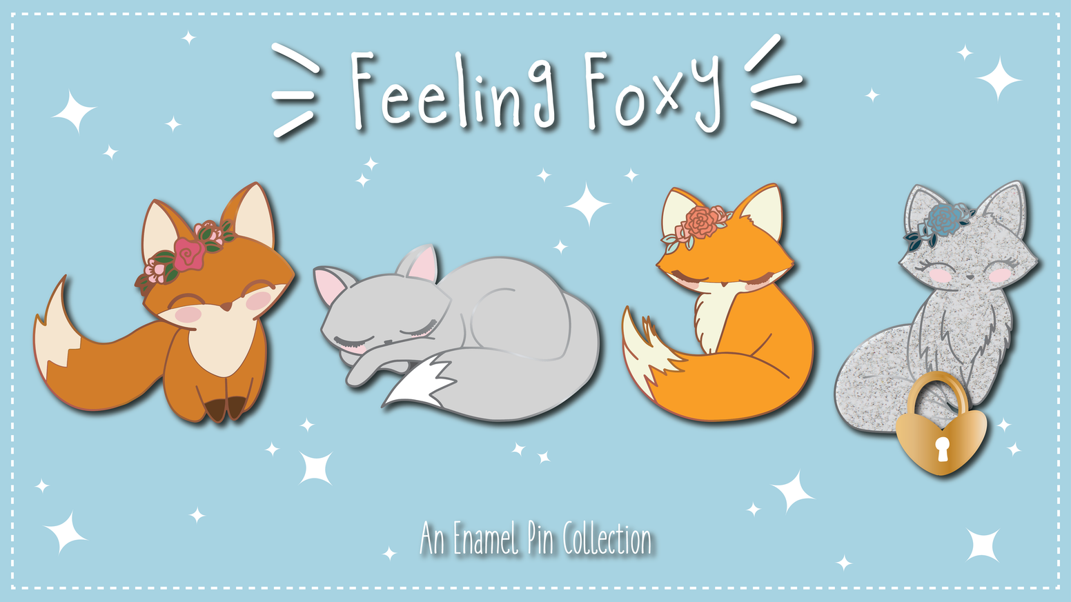 Enamel Pins for the foxy at heart.