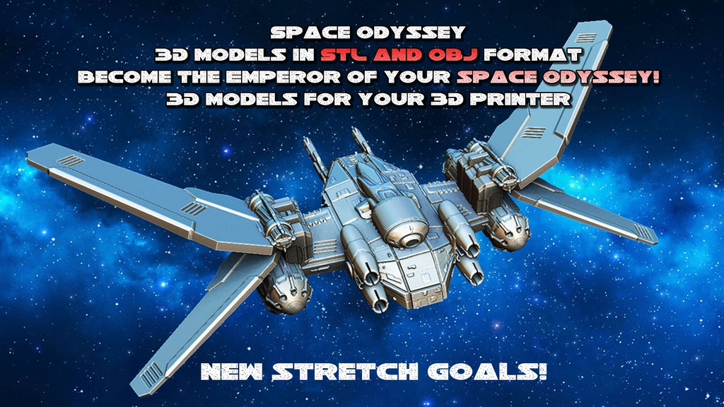 Spaceships-3D models for 3D printing project video thumbnail