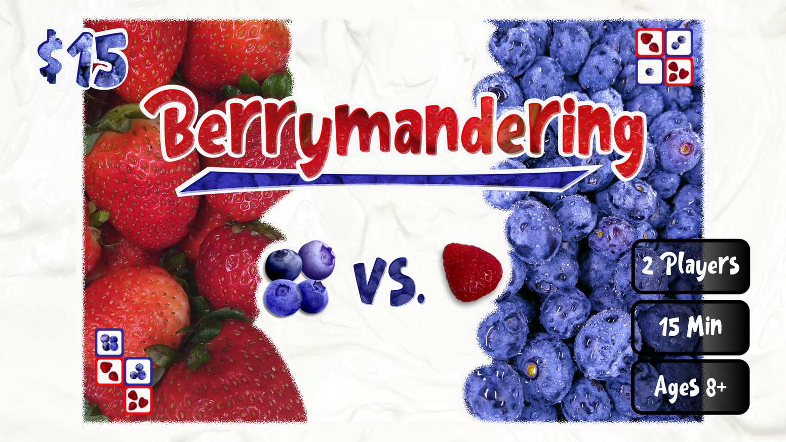 Gerrymander berries on a cake in this 2 player strategy game