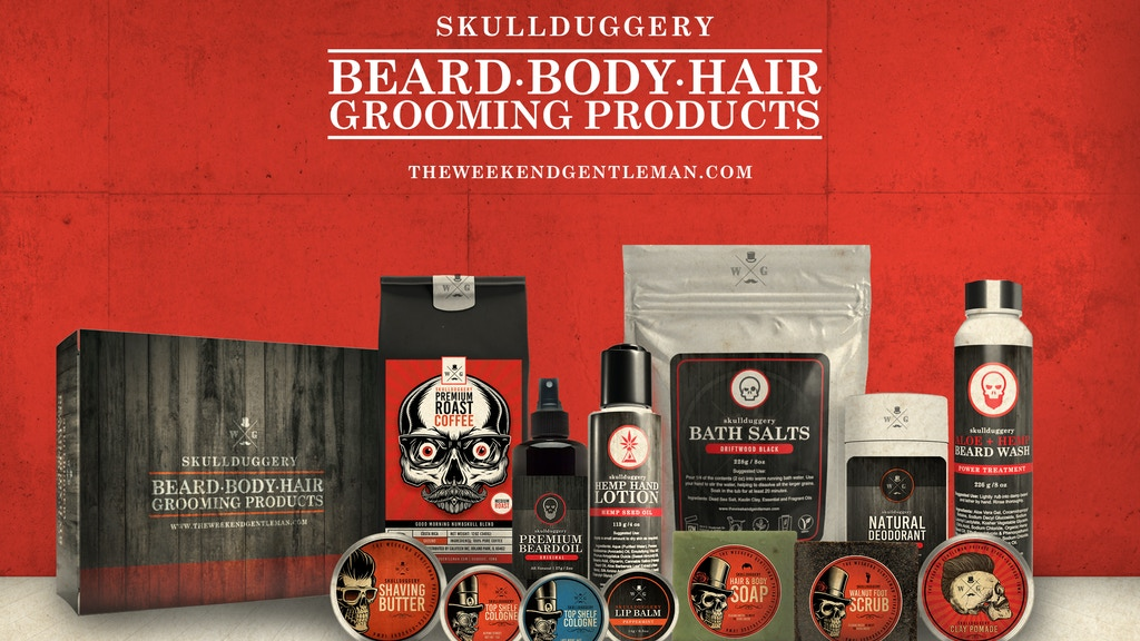 Project image for The Weekend Gentleman: Skullduggery Grooming Products