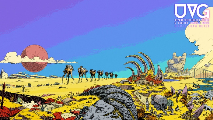The Ultraviolet Grasslands (UVG) trpg is a rules-light psychedelic metal trip to the Black City on the edge of space and time.