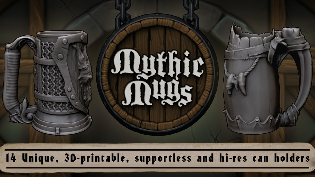 Mythic Mugs - 3D Printable Fantasy Can Holders project video thumbnail