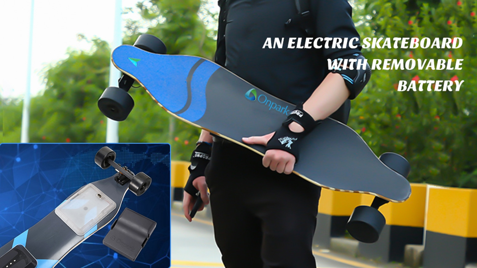 With unique patented design, the Samsung battery could be quick replaced. Onpark makes you enjoy the longest riding to everywhere!