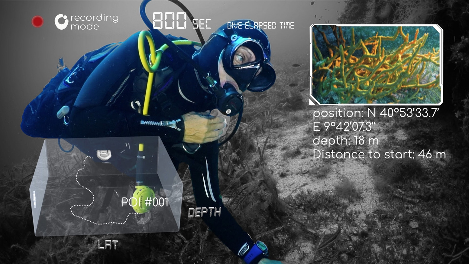 BRIZO - Track your 3D dive path and protect nature